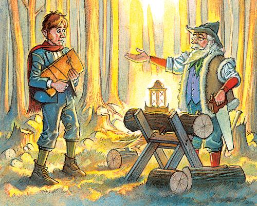 oduncu ve oğlu