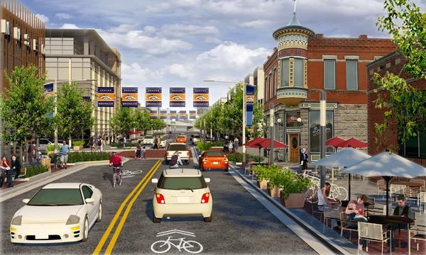 Images showing the proposed changes to the Sun Valley neighborhood.
